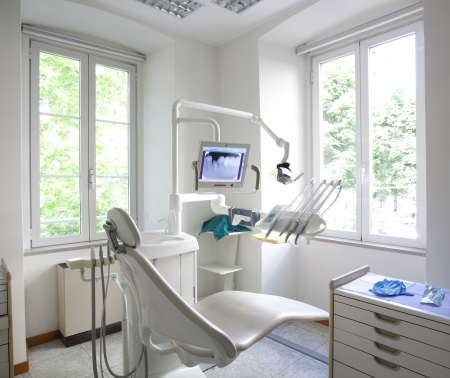 oral surgery: dentist office interior Stock Photo
