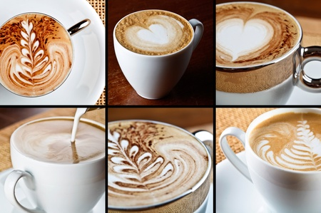 latte art: cappuccino composition