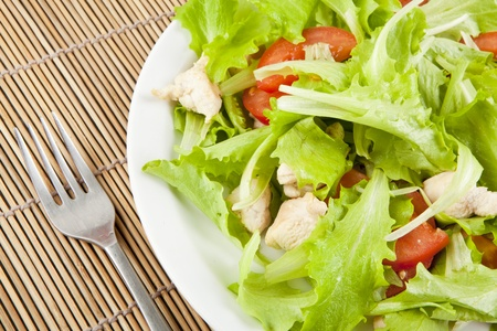 fresh salad with chicken and tomatoes Stock fotó - 9985332