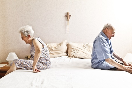 elderly couple in the bedroom photo