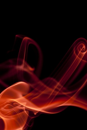black smoke: Abstract smoke on black background