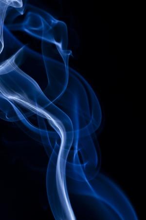Abstract smoke on black background photo