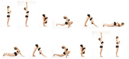 yoga sun salutation sequence photo