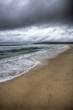 Stormy beach Australia photo