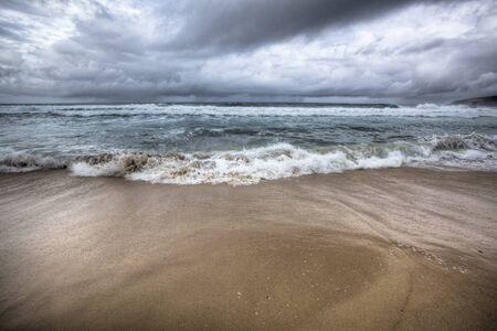 Stormy beach Australia