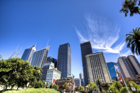 building glass: sydney city center Editorial