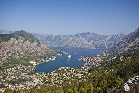 Panoramic view of Kotor bay, Montenegro photo