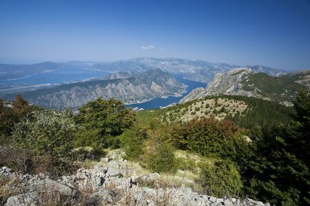montenegro: Panoramic view of Kotor bay, Montenegro