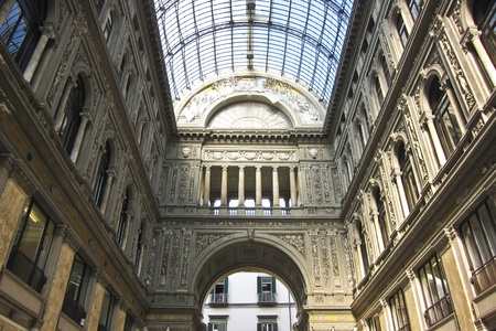 Galerie Umberto in Neapel, Italien. Detail der Glasdach