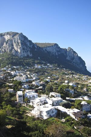 scenic view of Capri island, Italy photo