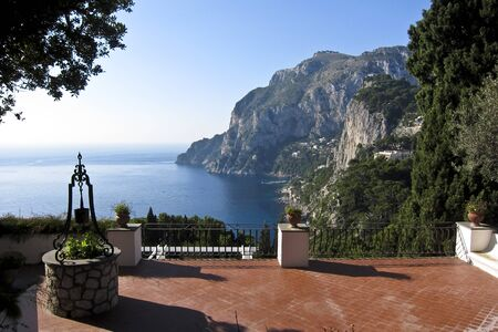 beautiful villa in capri island photo