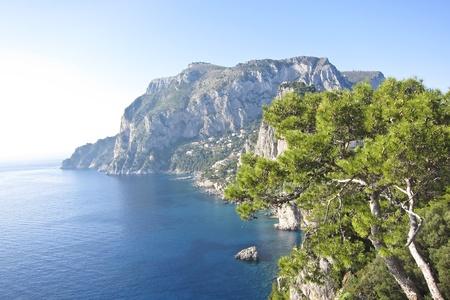 the beautiful Capri island in  Italy, Naples