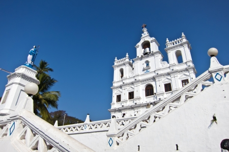 The Panjim Church of Our Lady of the Immaculate Conception in goa, india Stock Photo