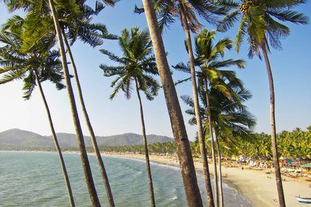 Tropical beach of Palolem, Goa, India Stock Photo - 13785736