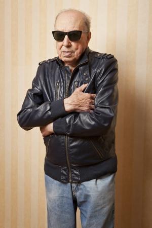 cool fashion elder man with sunglasses
