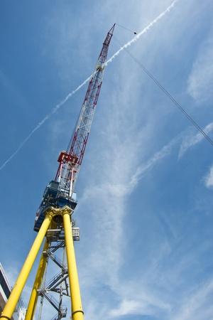 Giant cargo crane at the shipyard photo