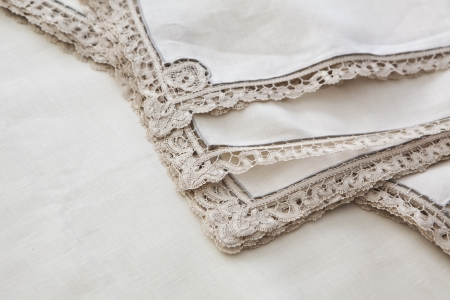 vintage lace napkins photo