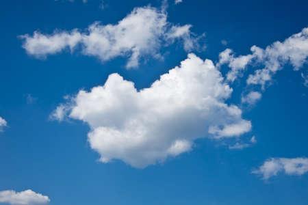 photons: single cloud in blue sky Stock Photo