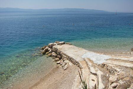 brac: little quay in brac island, croatia