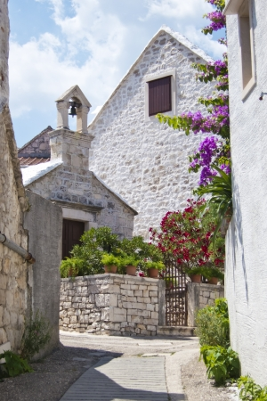 brac: pucisca, old village in brac, croatia