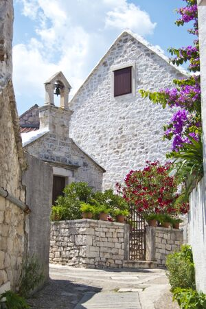 pucisca, old village in brac, croatia photo