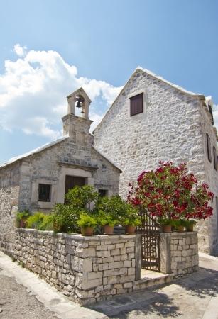 brac: pucisca, old village in brac, croatia