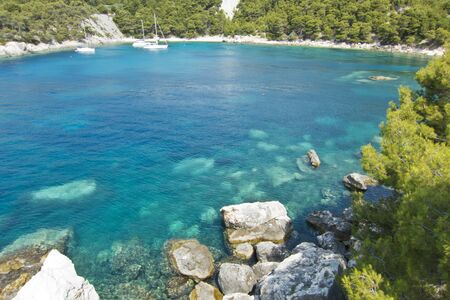 brac: beautiful idillic bay in hvar, croatia
