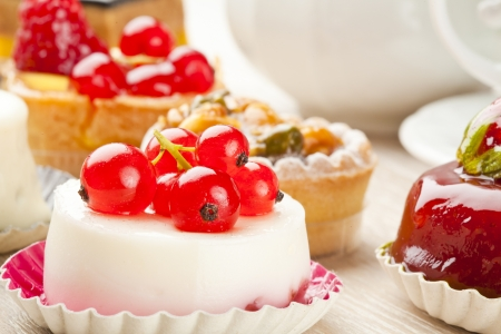 pastry: small beautiful red fruit pastry