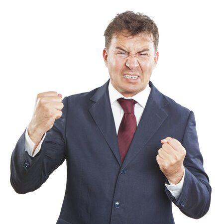 angry businessman photo