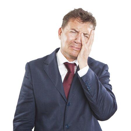 mistakes: Hombre de negocios con la expresi�n triste Foto de archivo