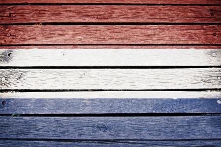 Nederland nederlandse vlag geschilderd op oude houten plank achtergrond
