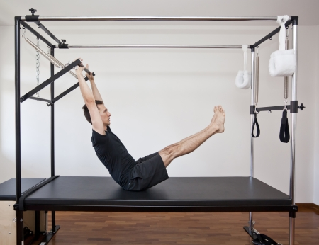 man practicing pilates Stok Fotoğraf - 15315303