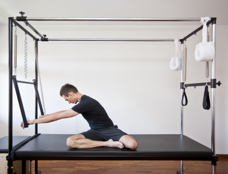 man practicing pilates Stok Fotoğraf - 15315307