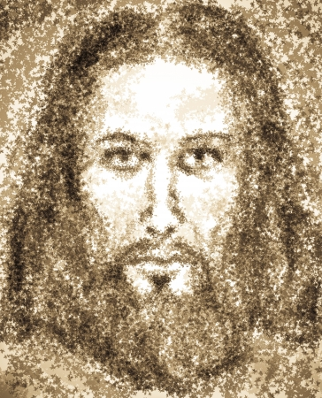 artistic jesus: Portrait of Jesus Christ Stock Photo