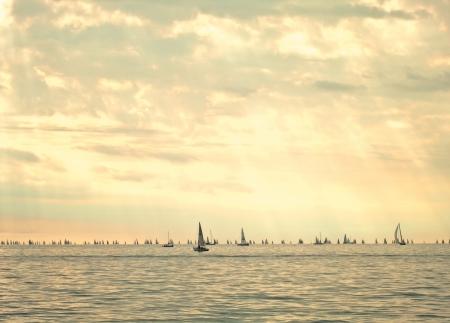 barcolana: barcolana, sail boat regatta in trieste. italy