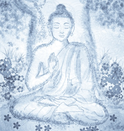 drawing of meditating buddha Stock Photo - 25815814