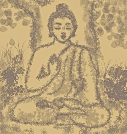 drawing of meditating buddha Stock Photo - 17213453
