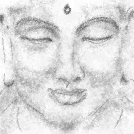 third eye: portrait of meditating yogi