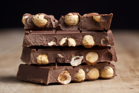 Chocolate with hazelnuts