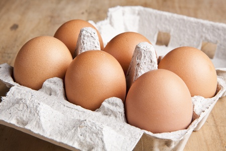 egg box: eggs in the package
