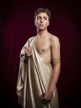male costume: portrait of ancient roman man