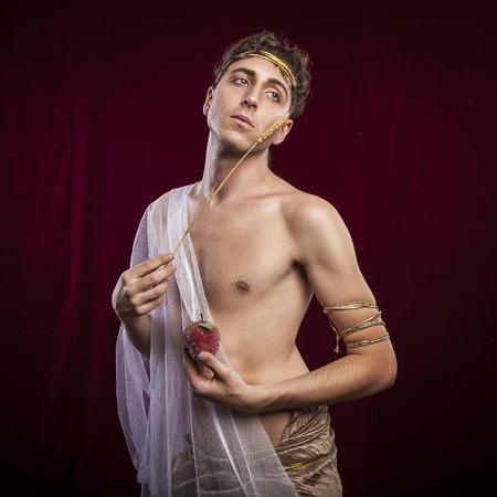 tunic: portrait of ancient roman man