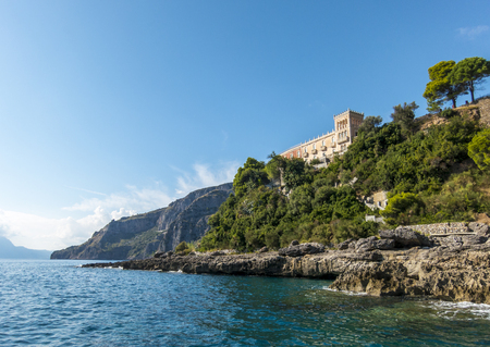 beautiful house villa on the sea in Maratea, south Italy photo