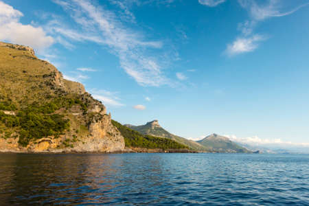scenic view of the coastline in Maratea, south Italy photo