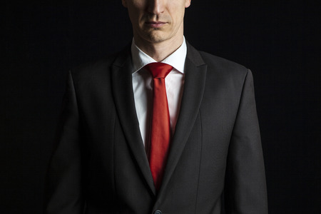 Red Tie Black Suit Stock Photos Images. Royalty Free Red Tie Black ...