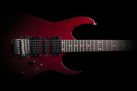electric guitar on black background Foto de archivo