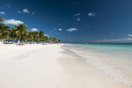 tulum: white tropical beach in tulum yucatan mexico