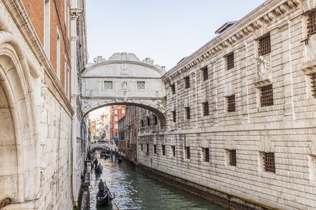 venezia: Bridge of Sighs, Ponte dei Sospiri in Venezia, Venice Italy