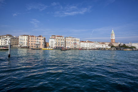 marco: sea view Piazza San Marco with Campanile and Doge Palace Stock Photo