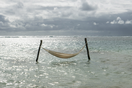 yucatan: hammock in the sea in yucatan, mexico